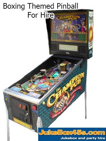 Champion Pub Pinball Machine Hire