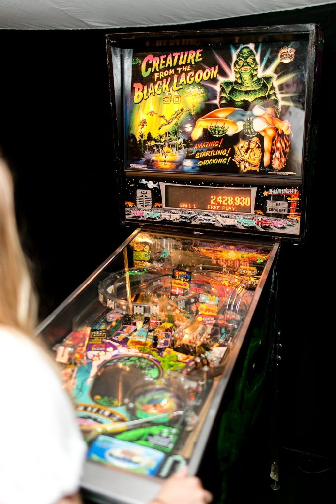 pinball machines for weddings and corporate events
