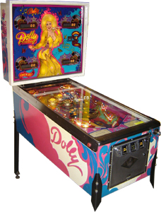 Dolly Parton Pinball Machine Hire