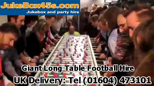 extr along foosball table giant football table hire rental parties weddings events uk london