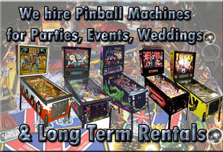 Large Range of Pinball Machines to Hire