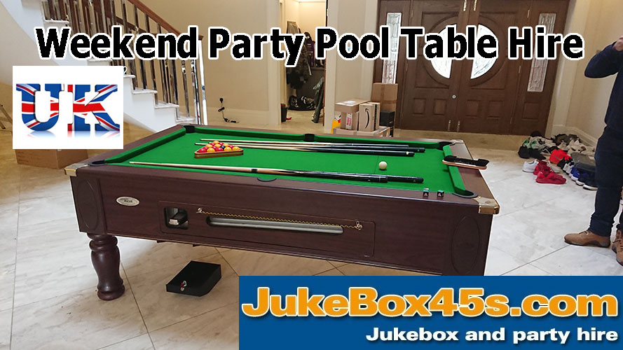 hire a pool table