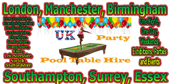 Wedding Party Pool Table Hire Rent
