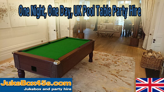 uk pool table hire